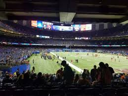 Mercedes Benz Superdome Seating Chart With Rows Mercedes Benz Superdome Section 104 Home Of New Orleans Saints