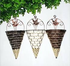 wall mounted vase rattan wall hanging wall mounted vase for artificial flowers plants table wedding party wall mounted vase