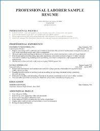 General Labor Resume Template Sample For Laborer Job Description