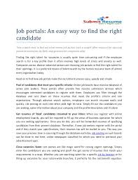 Job portals: An easy way to find the rightcandidateTake a quick read to find  out ...