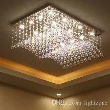 chandelier led lights crystal modern simple creative luxury rectangle shape chandeliers pendant ceiling lighting fixture chandeliers lamp chandeliers