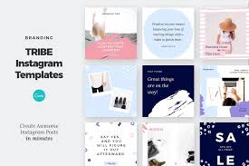 Art Design Instagram Canva Instagram Post Template Tribe By Layersupplyco On