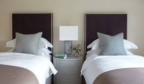 Taupe Bedroom Decorating Guest Bedroom Design Ideas Two Twin Beds Neutral Home Daccor