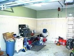 garage wall covering ideas finishing corrugated metal walls i