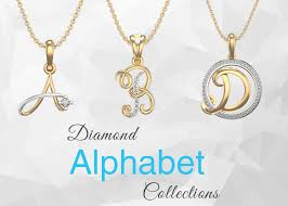 feast your eyes on the alluring alphabet diamond pendant collection with sparkling diamonds