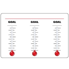 Dry Erase Safety Tracker Signs 3 Thermometer Goal Chart