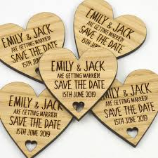 wedding save the date magnets personalised wooden heart shaped fridge magnet
