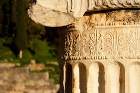 architectural detail photography. Architectural Detail Of Ancient Greek Stone Column Photography