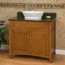 Bamboo Bathroom Cabinets 36 Halifax Bamboo Vessel Sink Vanity Bathroom