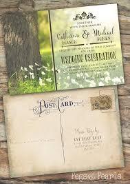 Photo Invitation Postcards Vintage Postcard Wedding Invitations 50 Wedding Invitation