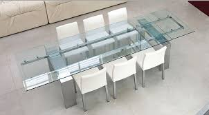 Expandable Glass Dining Room Tables Interior Interesting Design Inspiration
