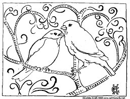 Small Picture Coloring Pages for Adults Only Valentine Birds Coloring Page