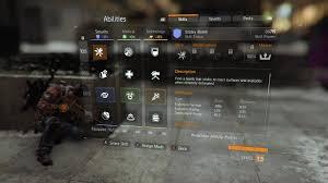 skills abilities the division zone q a skills menu