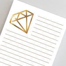 Alpha Delta Pi Notepad Personalized Gold Colored Diamond Logo
