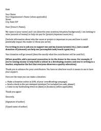 exle of a general donation request letter