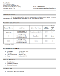 Resume For Freshers Resume Templates