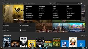 Microsoft Menu Microsoft Might Add A Departments Menu To The Store On Windows 10
