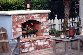 outdoor brick fireplace ideas