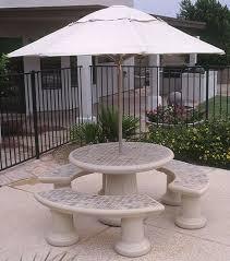 tiled rectangular outdoor concrete tables tiled round concrete landscape tables