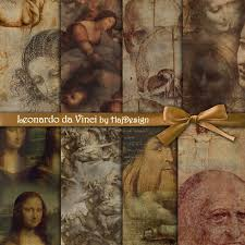 leonardo da vinci instant digital collage sheet 128270zoom