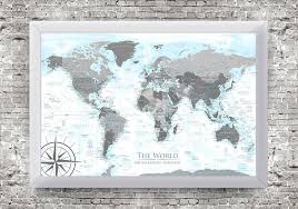 architecture framed world map fantasy corkboard white 8x12 image size pertaining to 5 from framed