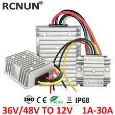 RCNUN 36V 48V to <b>12V 13.8V 5A</b> 10A 15A 20A 30A DC DC Step ...