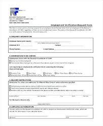 Free Printable Employment Verification Form Sample – Danielmelo.info