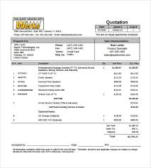 price quotation format doc tour quotation format delli beriberi co
