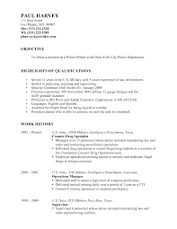 Police Officer Resume Examples Examples Of Resumes