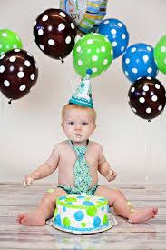 Infant Boy Cake Smash First Birthday Outfit Caleb Birthday