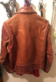 walter dyer camel leather jacket