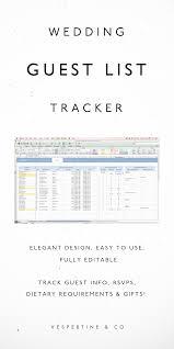 Wedding Guest List Spreadsheet - Wedding Guest List Tracker ...