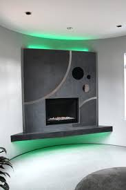 lights great addition backyard entertainment space led inside fireplace over
