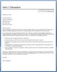 Nice Corporate Physical Security Guard Cover Letter Inspiration Web
