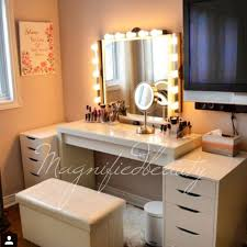 dressing table lighting. ikea vanity by magnifiedbeauty on instagram malm dressing table 150 alex drawers each 80 lighting a
