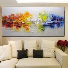 Kopen Goedkoop 100 Handgeschilderde Abstracte Kleurrijke Landschap