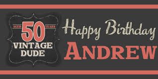 happy birthday banners personalized vintage dude happy birthday banner happy 50th birthday
