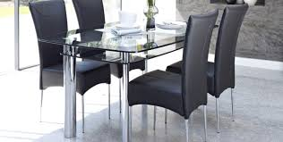 Chair Glass Table With 4 Chairs Splendid Glass Dining Table Set