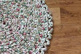green rag rug rag rug green pink and white crocheted round by lime green rag rug