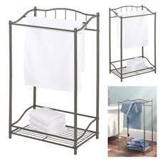 towel stand. Floor Towel Stand Metal Free Standing Bathroom Storage Holder Rack Bar  Organizer Towel Stand