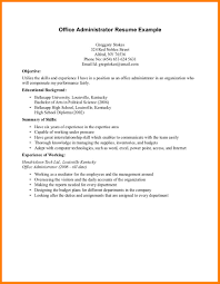 Highchool Resume Template No Experience Fortudents With
