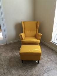 ikea strandmon wing chair skiftebo yellow ottoman about this sold