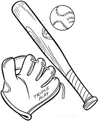 Baseball Bat Coloring Pages Baseball Bat Coloring Page Bats And Ball