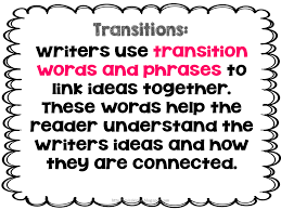 transition words lessons teach misskinbk a fifth grade blog using transitions in writing bie