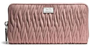 Lyst - Coach Madison Accordion Zip Wallet in Gathered Twist Leather in Pink
