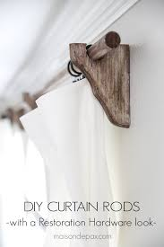 diy real wood curtain rods with a restoration hardware look for a
