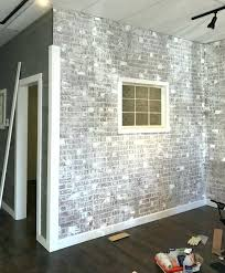 fake brick wall use plaster to add texture to your faux brick wall but fake brick