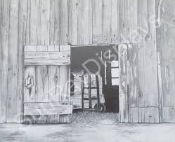open door pencil drawing. 9 1/2 X 7 Pencil Drawing Of An Old Barn With A Open Door. The Looks Fantastic Framed But There Is No Frame Included. This Gives Small Door