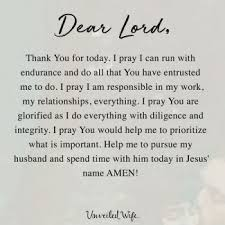 Daily Prayers For My Wife