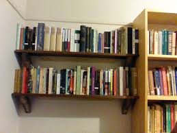 diy wall mounted bookshelves